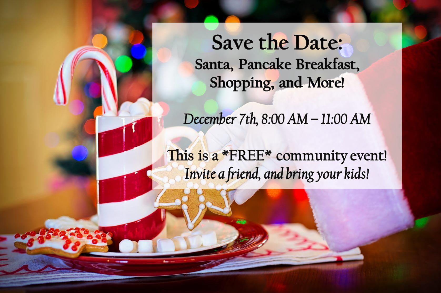 Free Santa Breakfast and more