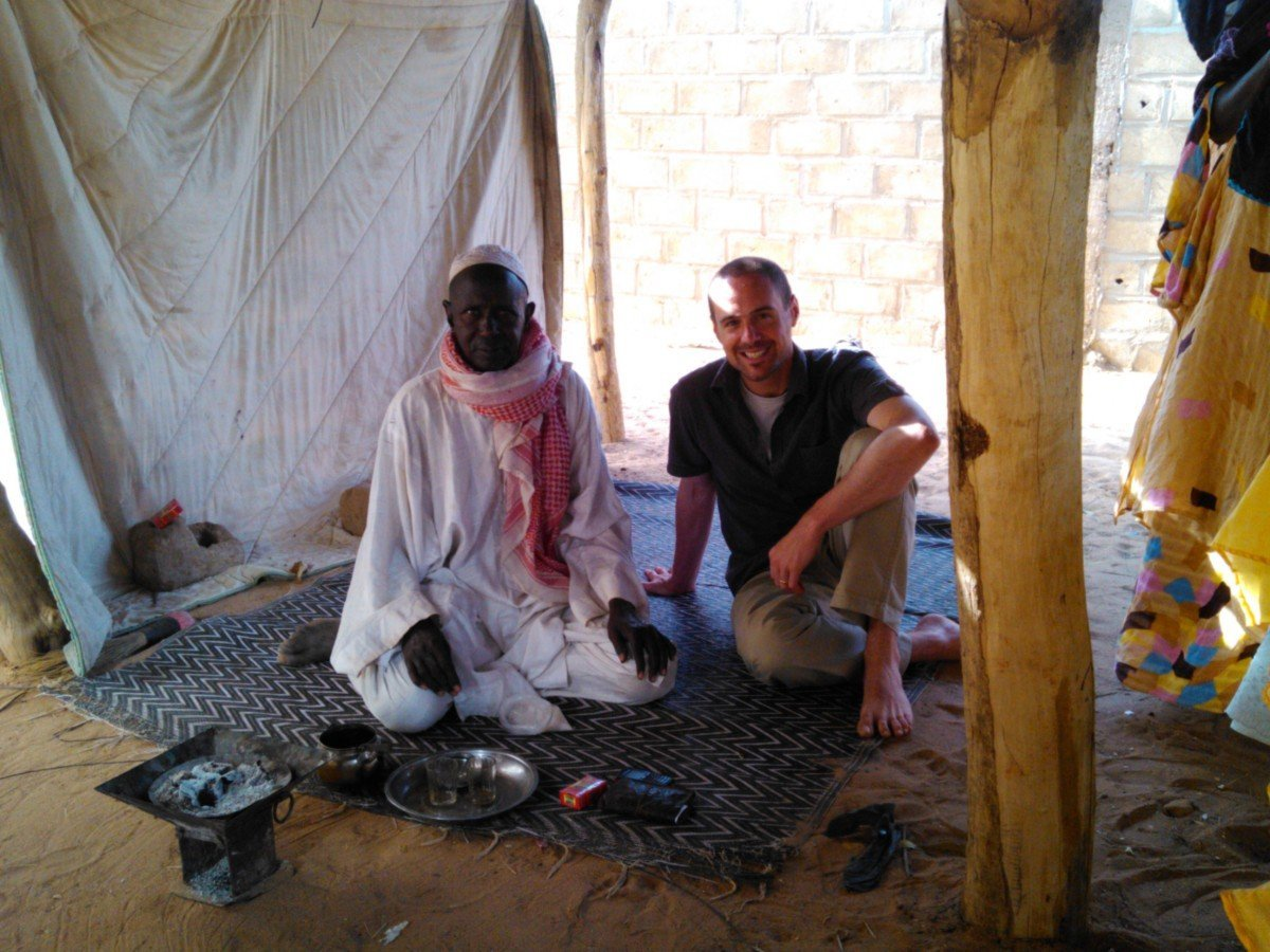 ELCA missionary Pastor Chad Rimmer enjoys attaya tea in Senegal.
