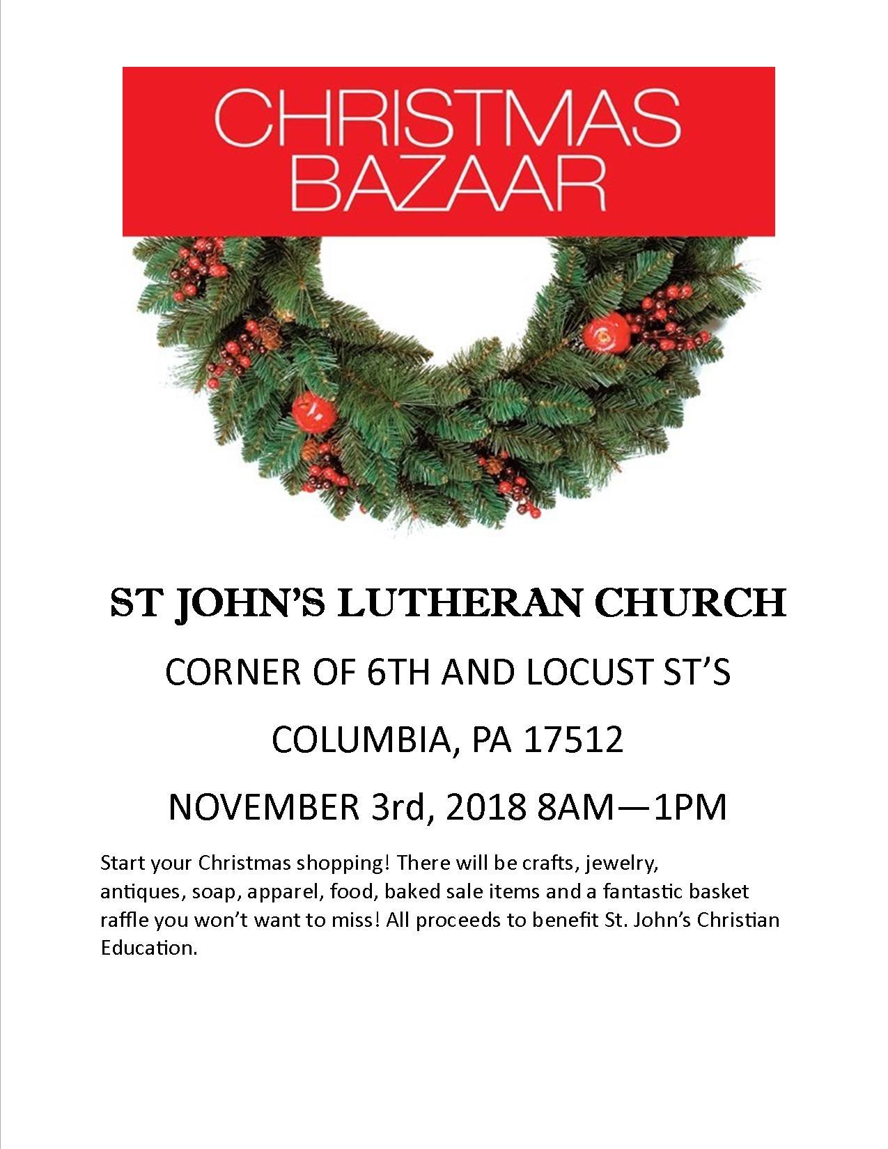 Christmas Bazaar - Lower Susquehanna Synod